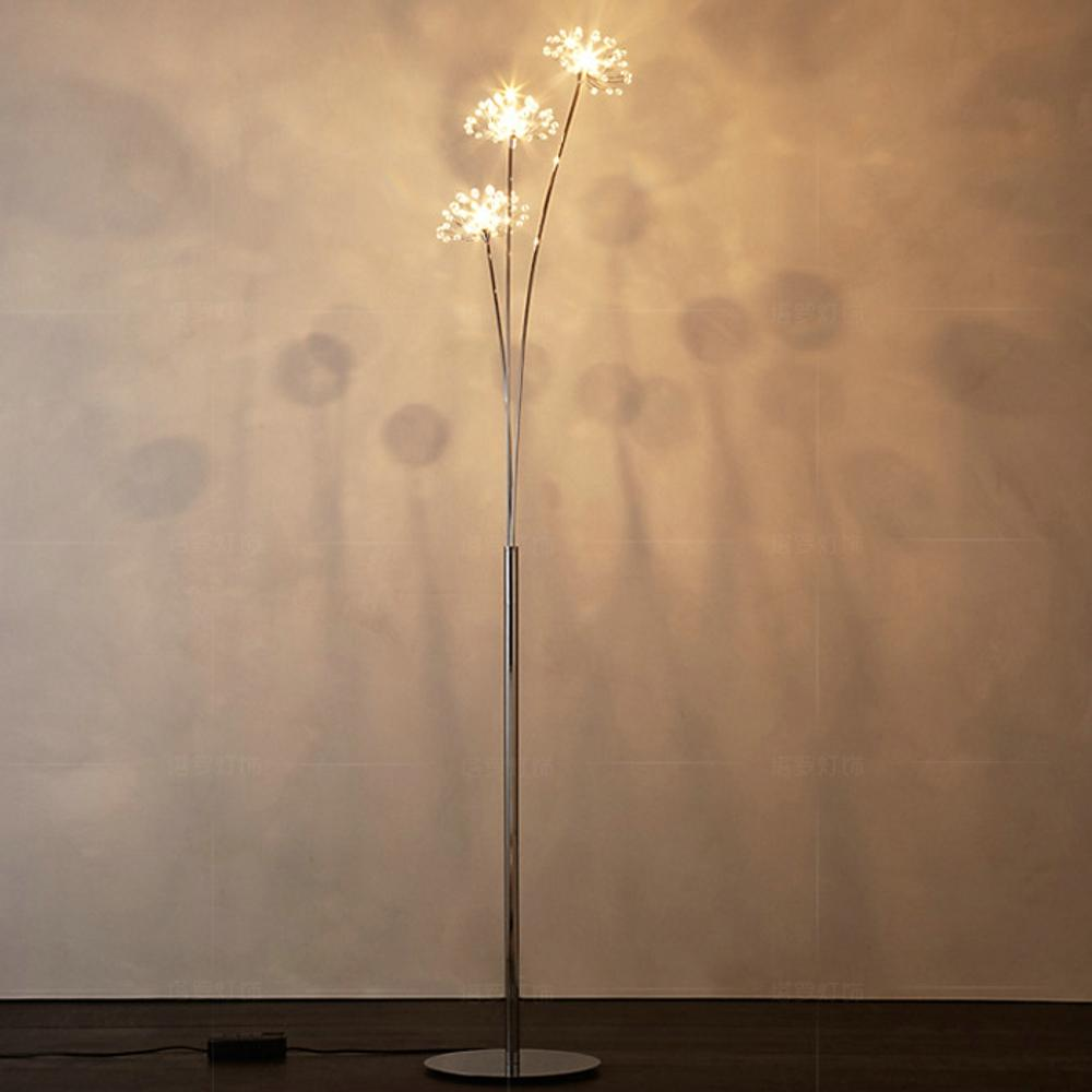 Acquista New Modern Crystal Lampada Da Terra Soggiorno Flower ...