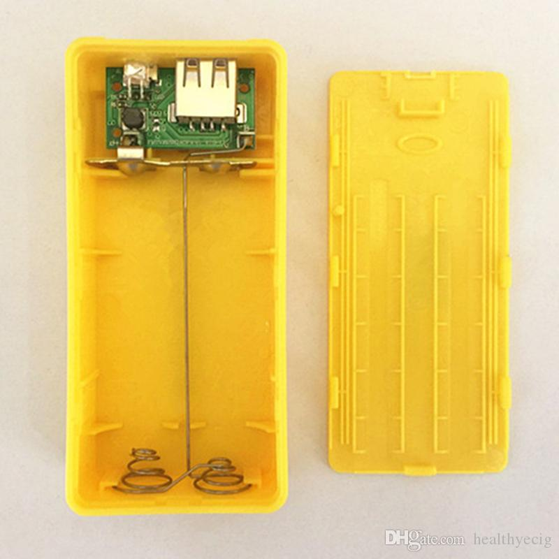 5V 1A 2*18650 Battery Power Bank Case With LED DIY Box Charger For iphone8 7 plus S7