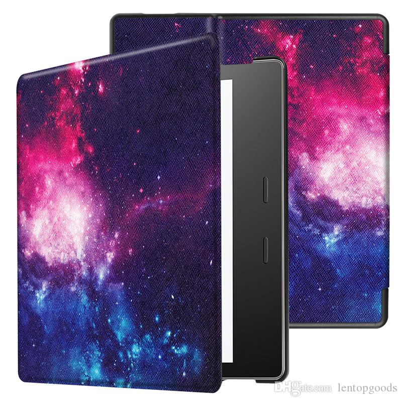 New Smart Printing PU Leather Magnet Cover for New Kindle Oasis 7.0 inch Tablet E-reader+Pen