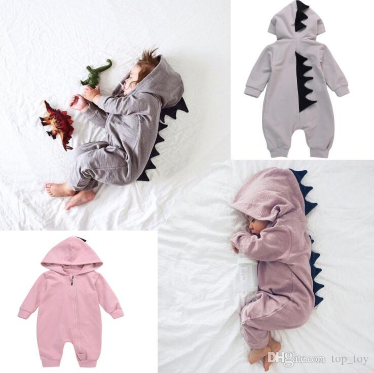 6429c156c901 2019 Baby Dinosaur Rompers Ins Baby Outfits Long Sleeve Boy Girl Hooded  Outwear Jumpsuits Rompers Baby Infant Clothing Romper Playsuit KKA4211 From  Top toy