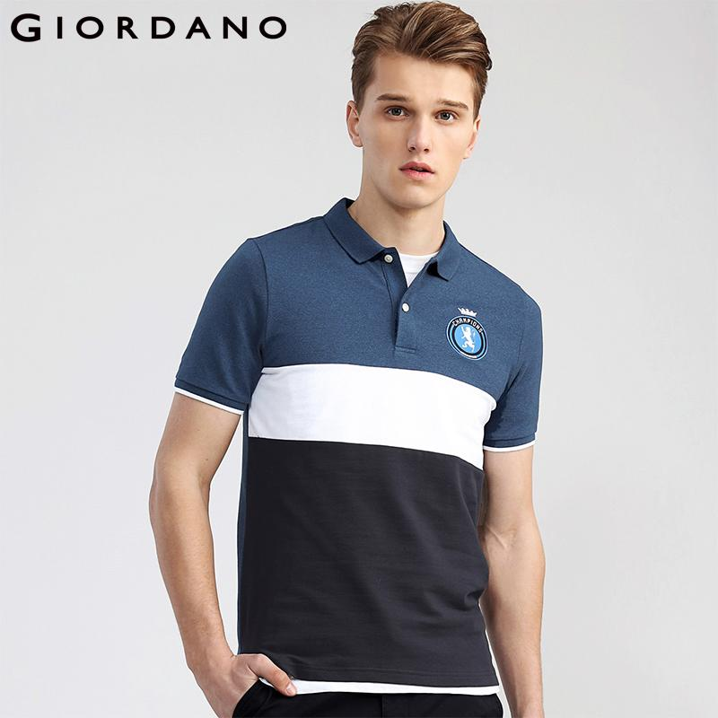 0f926f5e22ba 2019 Giordano Men Polo Lion Embroidery Pattern Polo Short Sleeves Flat  Collar Homme Polo Shirt Brand Fashion New Arrival From Netecool