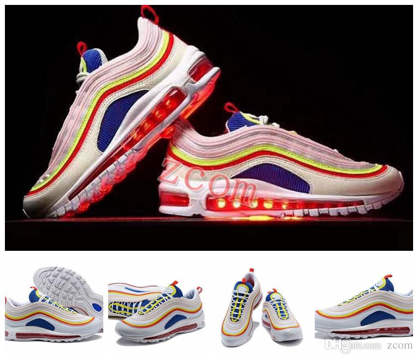 2018 New Arrival 97 Summer Viber Colorful Running Shoes for Women Mens Trainers 97s OG Ultra SE 3M Rainbow Bullet Brand Designer Sneakers for sale wholesale price U55Wn