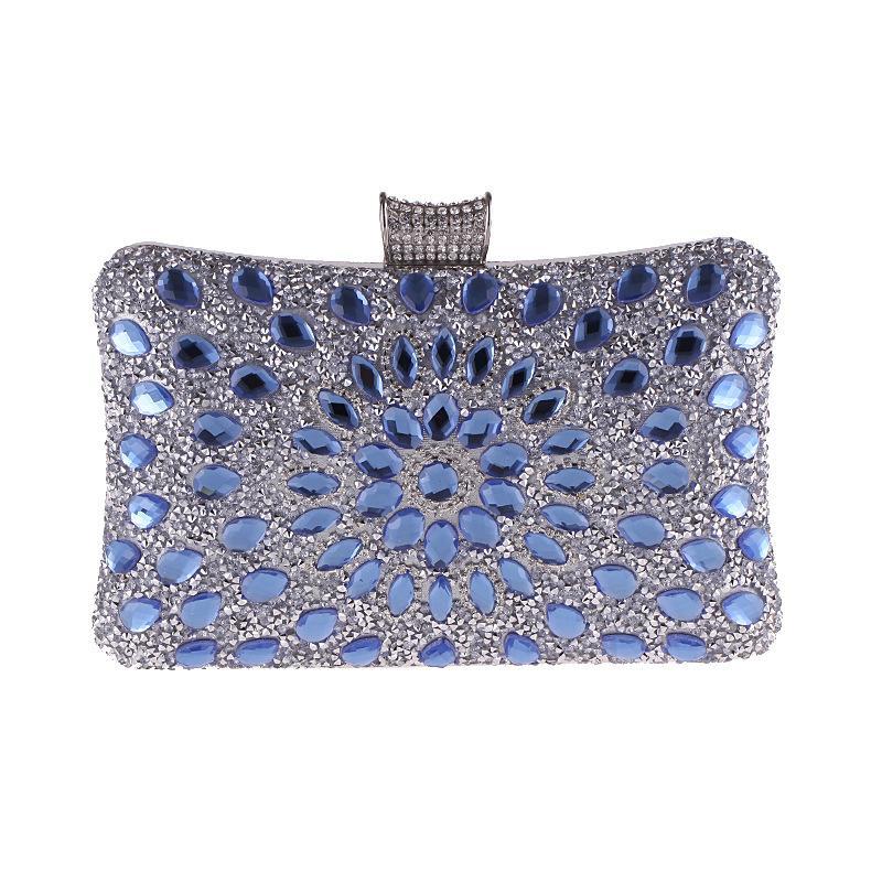 969318f82 Compre Luxo Brilhante Diamante Saco De Noite Mulheres Cadeia Bolsa Moda  Embreagens De Cristal Banquete Socialite Bolsa Das Senhoras Bolsa De  Vestido De ...