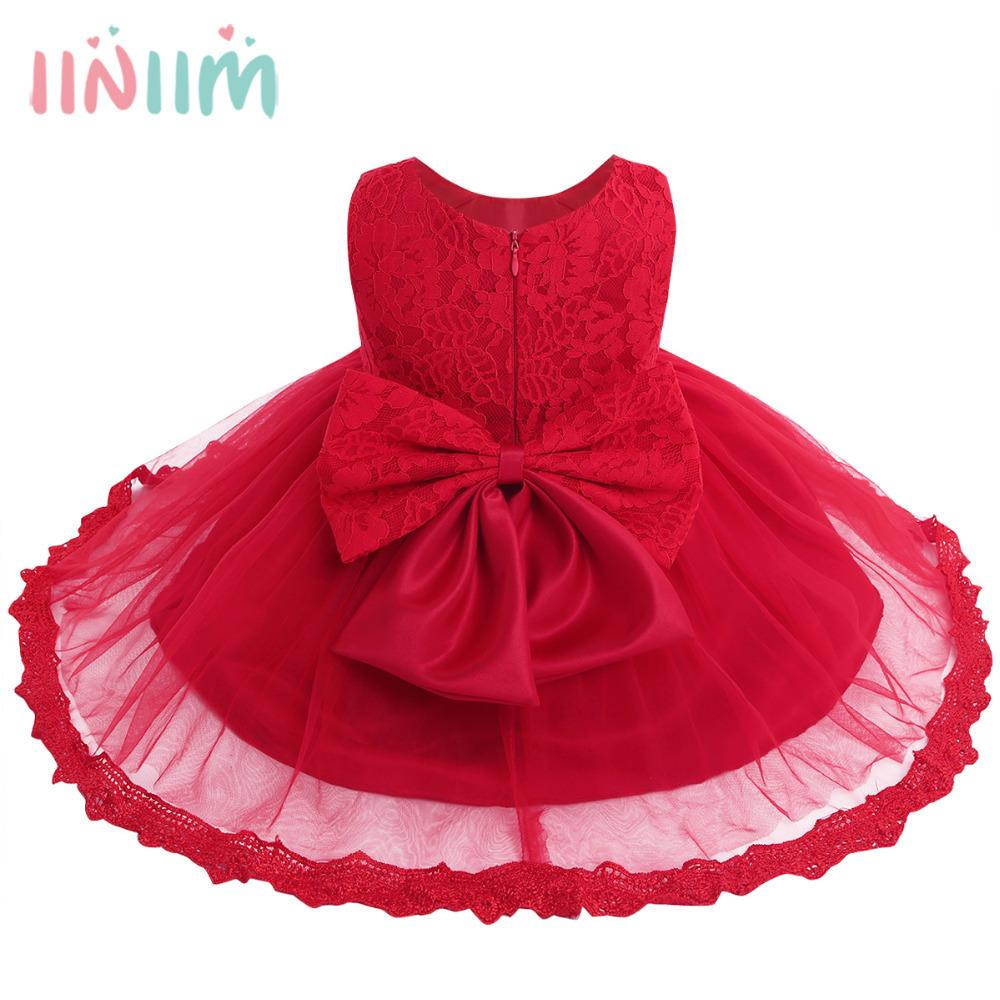 90cec7fd5 2019 Infant Baby Girls Dress Princess Vestidos Formal Toddler Floral ...
