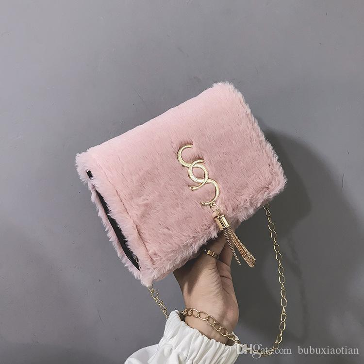 55d62fe412a9 2019 Hot Sale And Fashion Cute Korean Women S One Shoulder Crossbody Bag  New Monochrome Small Wool Square Bag From Bubuxiaotian