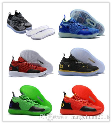 b5953e388d88 2018 Best New Zoom XI KD 11 EP Oreo Ice Blue Black Basketball Shoes  Sneakers Kevin Durant 11s Designer Shoes Men S Trainers Shoes Size 7 12  Basketball Gear ...