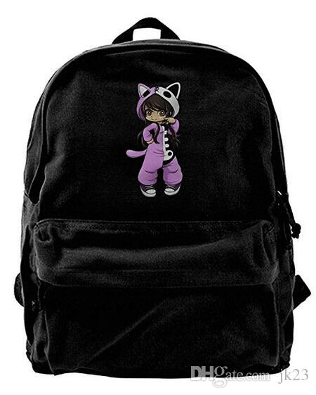 Jess From Aphmau Gaming Canvas Shoulder Backpack New Style Backpack For Men  & Women Teens College Travel Daypack Black