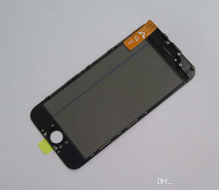 En kaliteli 50 adet iphone 6g ön kurulum için onarım ön cam ile çerçeve + oca + polarize filmi kırık cam yenilemek