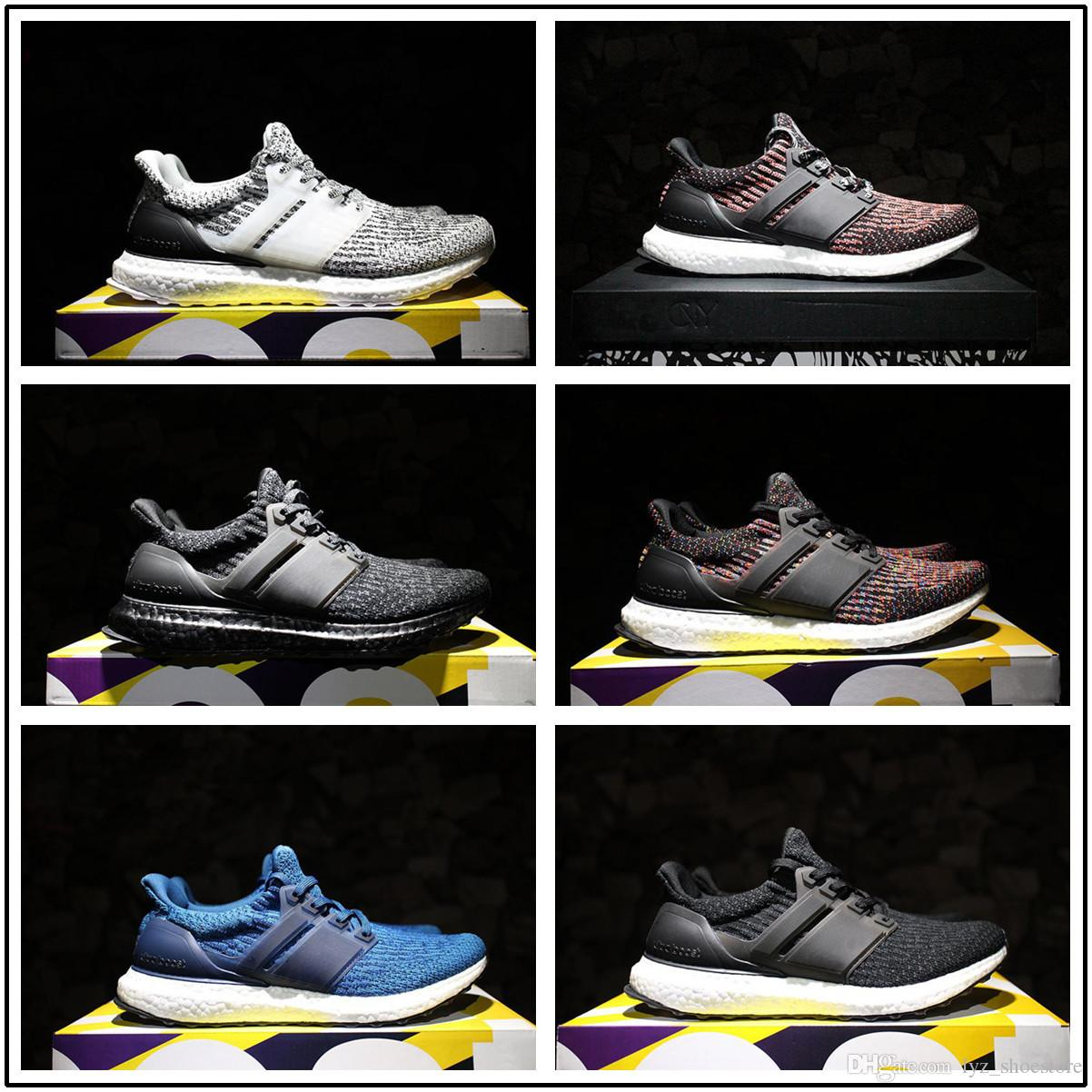 best cheap b80ca aeb4e Compre Adidas Ultra Boost 3.0 2017 Ultra Boost 3.0 4.0 Hombres Mujeres  Zapatillas Zapatillas Triple Negro Blanco Cny Oreo Azul Ultraboost  Primeknit Zapatos ...