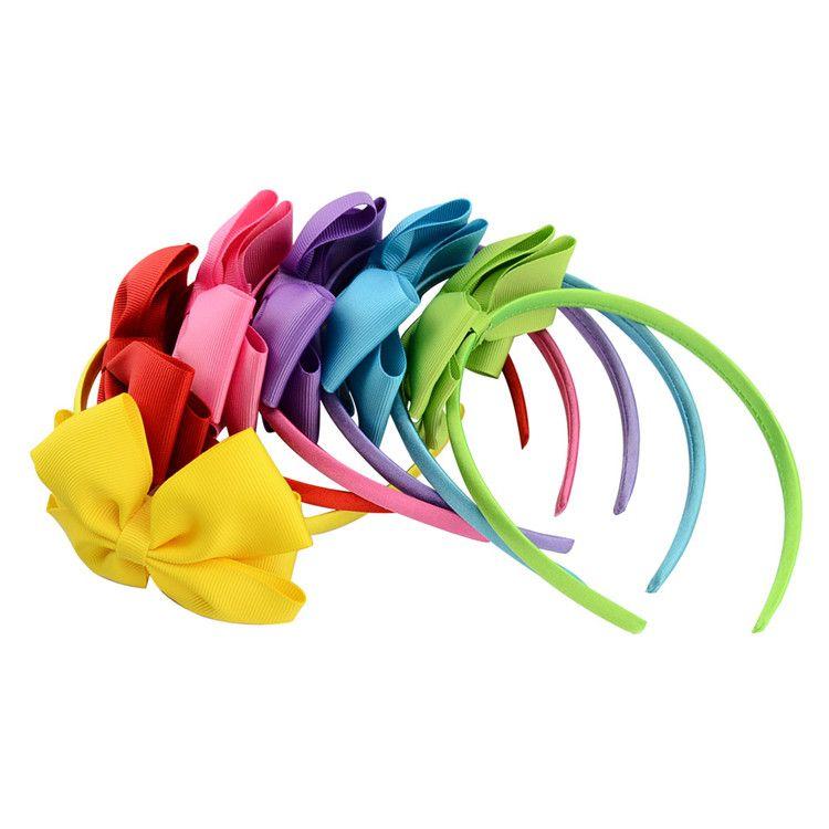 4 pulgadas de los bebés del pelo del aro de la cinta del arco del arco palos para las niñas moda niños bebé arcos dobles Headwear pelos accesorios INS B11