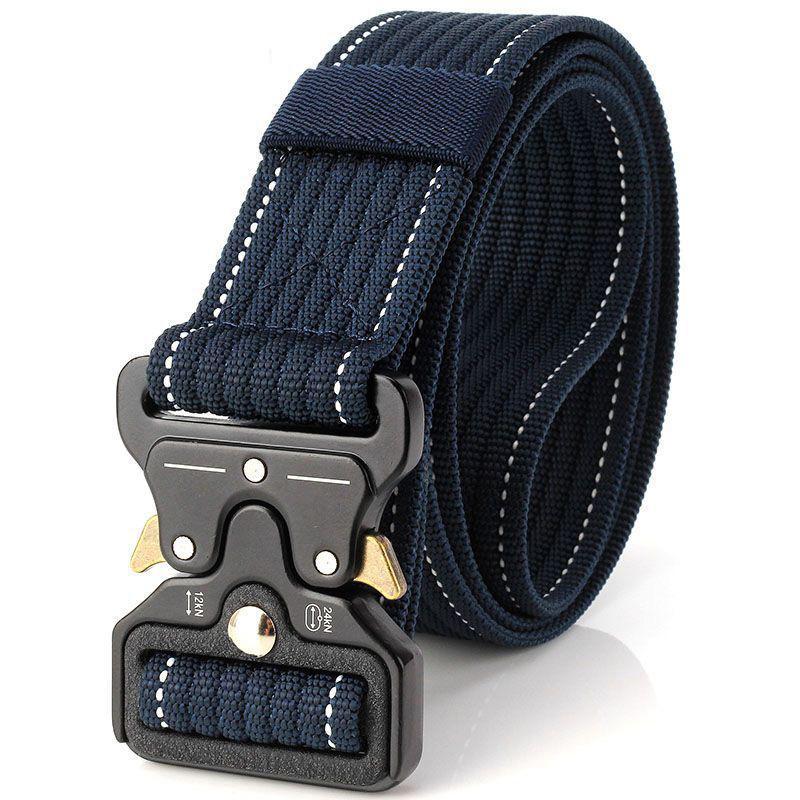 New Cobra Buckle Tactical Belt 3.5cm High Quality Nylon 120cm Casual Canvas  Belt For Men And Women Military Training Belt B3E2 Silver Belt Seat Belt  Buckle ... 792bb6b31