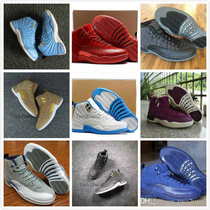 sports shoes 4e77a f5411 Großhandel 12s Basketballschuhe Grippe Spiel Bulls Michigan CP3  International Flight Der Meister Dark Suede Flu Spiel CNY Grey Männer 12  TAXI Playoff ...