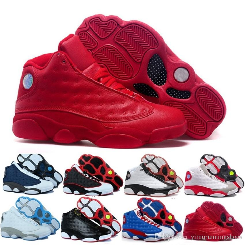 newest 62251 41dc2 2017 Mens Basketball Shoes 13 Bred Black True Red History Of Flight DMP  Discount Sports Shoe Women Sneakers 13s Black Cat