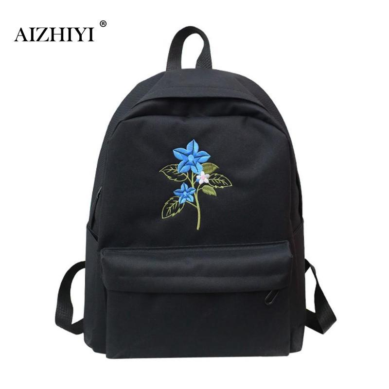 487c35de6b Casual Embroidery Women Nylon Backpack Students School Bag For Teenage  Girls Boys Backpacks Travel Rucksacks Shoulder Bag Backpacks For Girls  Waterproof ...