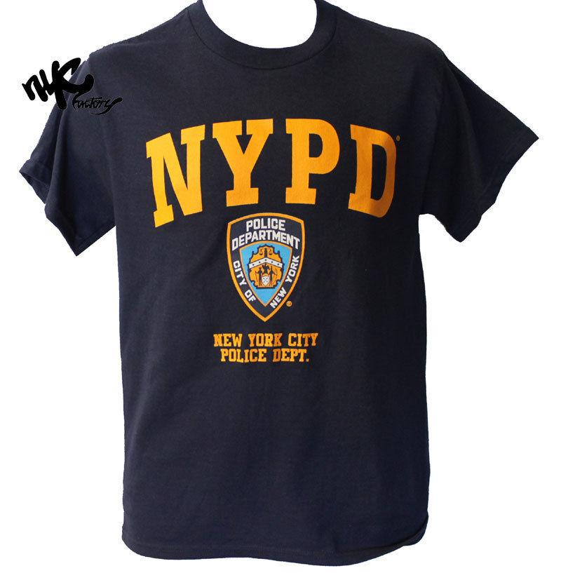 493e385c7 NYPD NAVY BLUE YELLOW LOGO BADGE NEW YORK POLICE DEPARTMENT T SHIRT MEN  UNISEX Tourist Shirt Fun Tee From Biyue3, $11.78| DHgate.Com
