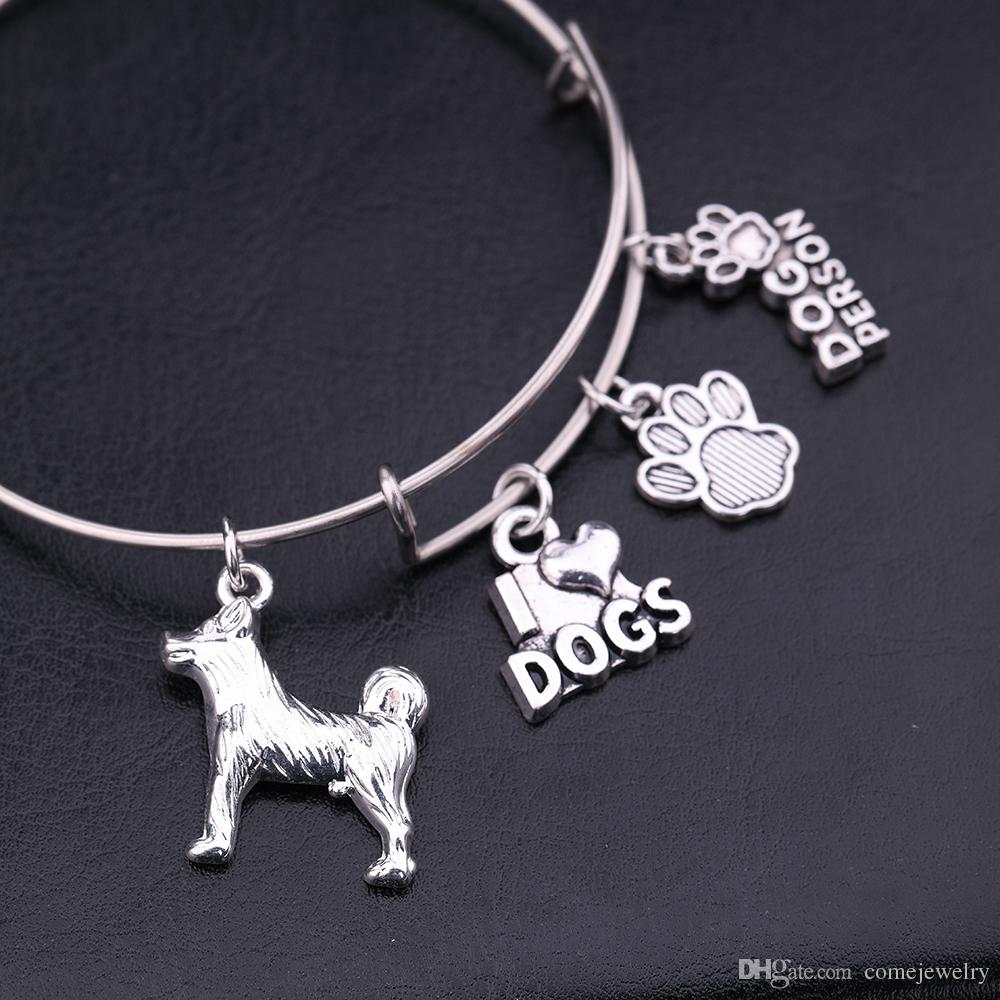 "fashion Bracelet Letter ""I LOVE DOGS , DOGS PERSON"" Cuff Charms DIY Jewelry Fashion Heart Pendant jewelry DIY CHARM BRACELET"