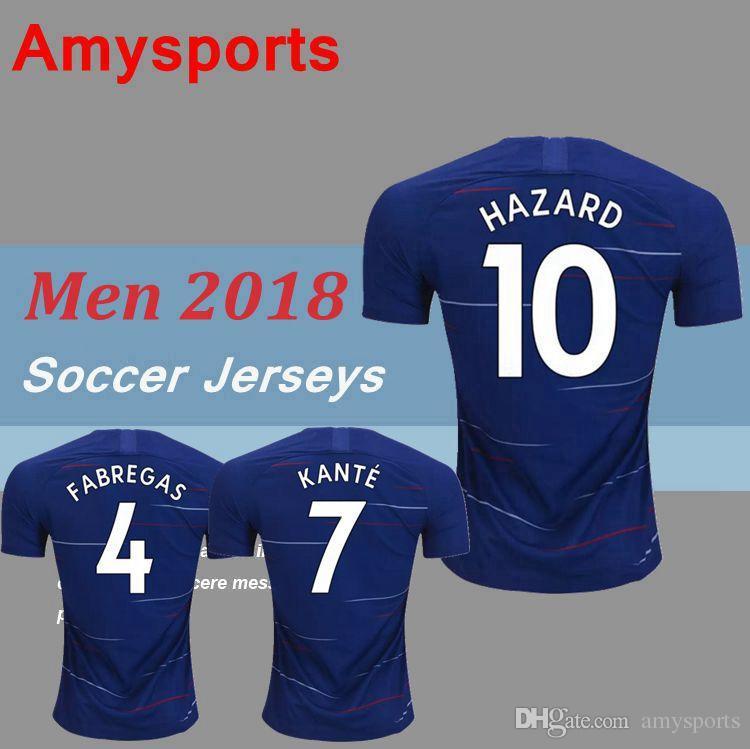 18 19 Custom MORATA Soccer Jersey 2018 2019 Home Blue Willian HAZARD Pedro  DIEGO COSTA KANTE WILLIAN DAVID LUIZ Football Shirts HAZARD MORATA Soccer  Jerseys ... 8489eb55d