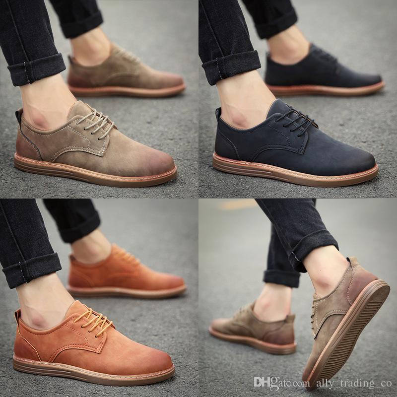 2a90bcd87c06 2019 new men s spring dress business fashion casual men s shoes British  breathable shoes men s Korean fashion shoes wholesale