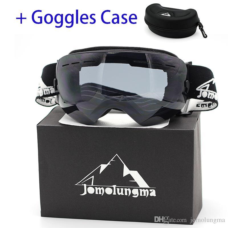 4f340a72501 Jomolungma New Ski Goggles Big Spherical Double Layers Anti-Fog HD ...