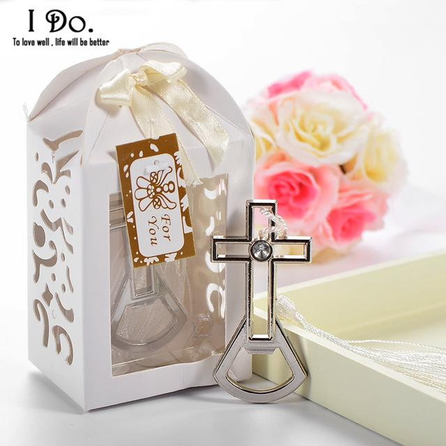 Wholesale Cross Bottle Opener Wedding Favors And Gifts For Guests Souvenirs Event Party Supplies Birthday Decorations