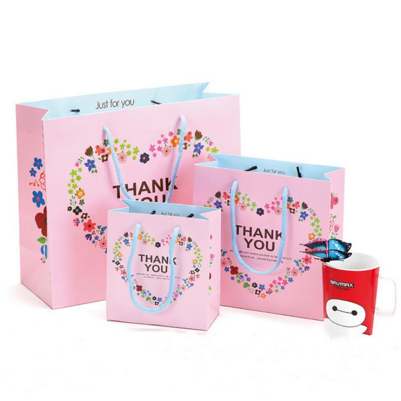New White Pink Paper Gift Bags Gift Bags Wedding Favor Bags Wedding
