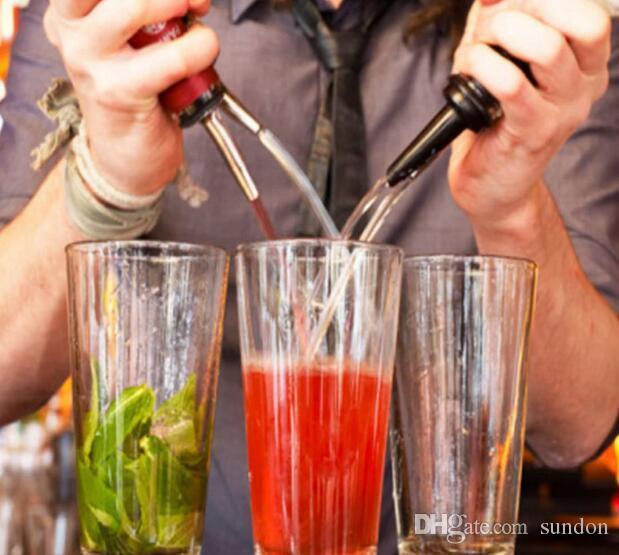 a Stainless Steel Liquor Spirit Wine Pourer Flow Wine Bottle Pour Spout Stopper
