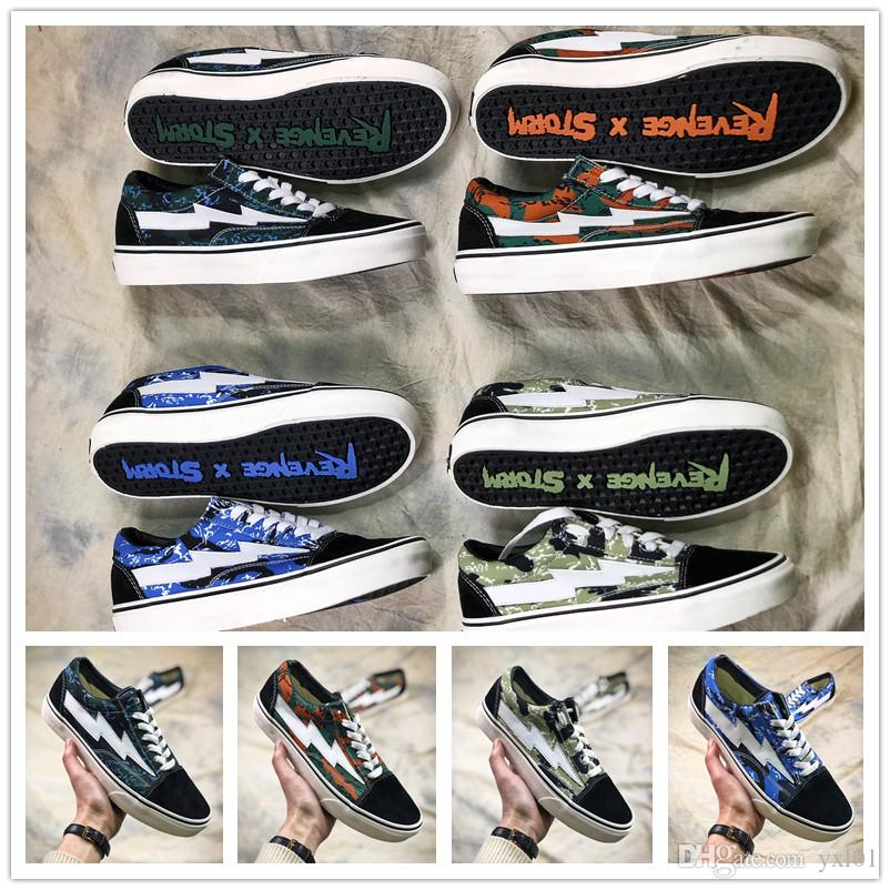 2018 AAA+ Revenge X Storm Pop Up Store 2 Lightning Casual Canvas Shoes  Kendall Jenner Footwear Old Skool Fashion Kanye West Sneakers 35 44  Comfortable Shoes ... 21d3c509951b
