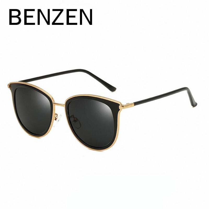 3c9004ecdb Compre BENZEN Gafas De Sol Mujer Diseñador De La Marca Polarizado Mujer  Gafas De Sol Señoras Sombra Sunglases Negro Con Estuche Original 6325 A  $25.47 Del ...