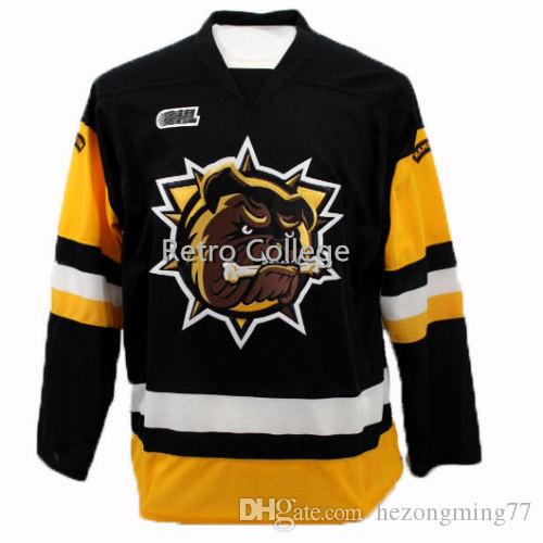 1009ab774d0 2019 Hamilton Bulldogs Vintage Hockey Jersey Embroidery Stitched Customize  Any Number And Name College Jerseys From Hezongming77