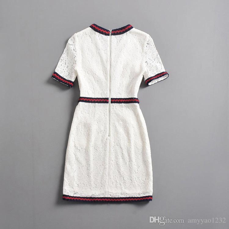 2018 Brand Same Style Dress Flora Print V Neck Purple White A Line Mid Calf Empire Wedding Womens Dress AS