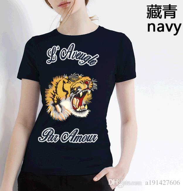 2018 Summer Designer T Shirts For Men Tops Tiger Head Letter Embroidery T  Shirt Mens Clothing Brand Short Sleeve Tshirt Women Tops S XL Tshirts  Designs T ... 59509d4e0c3d
