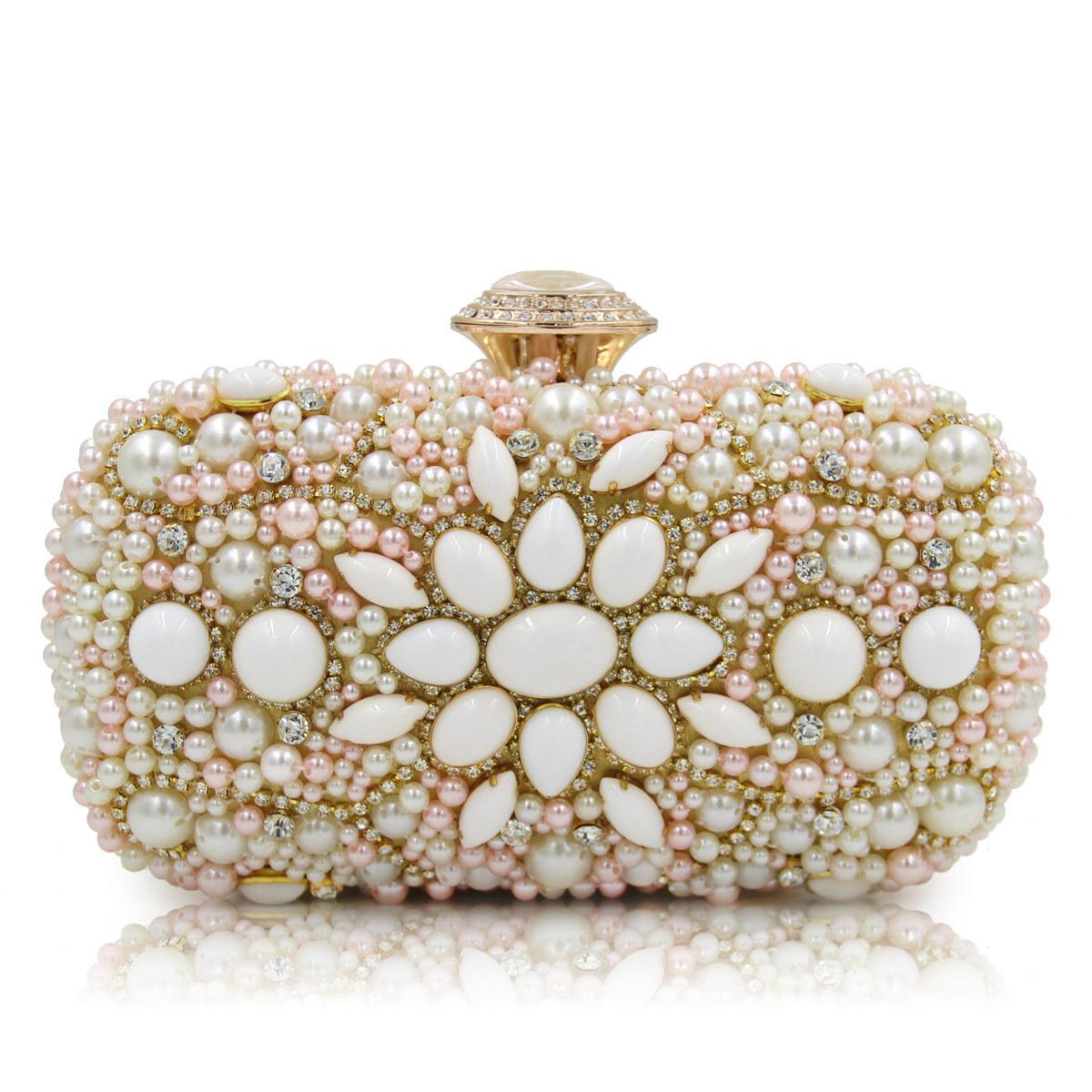 811f968afc1c9 Satın Al Omuz Çanta Yeni Lüks El Yapımı Inci Çiçek Şekli Akşam Çanta Kadın  Moda Günü Debriyaj Düğün Gelin Çanta, $28.15 | DHgate.Com'da