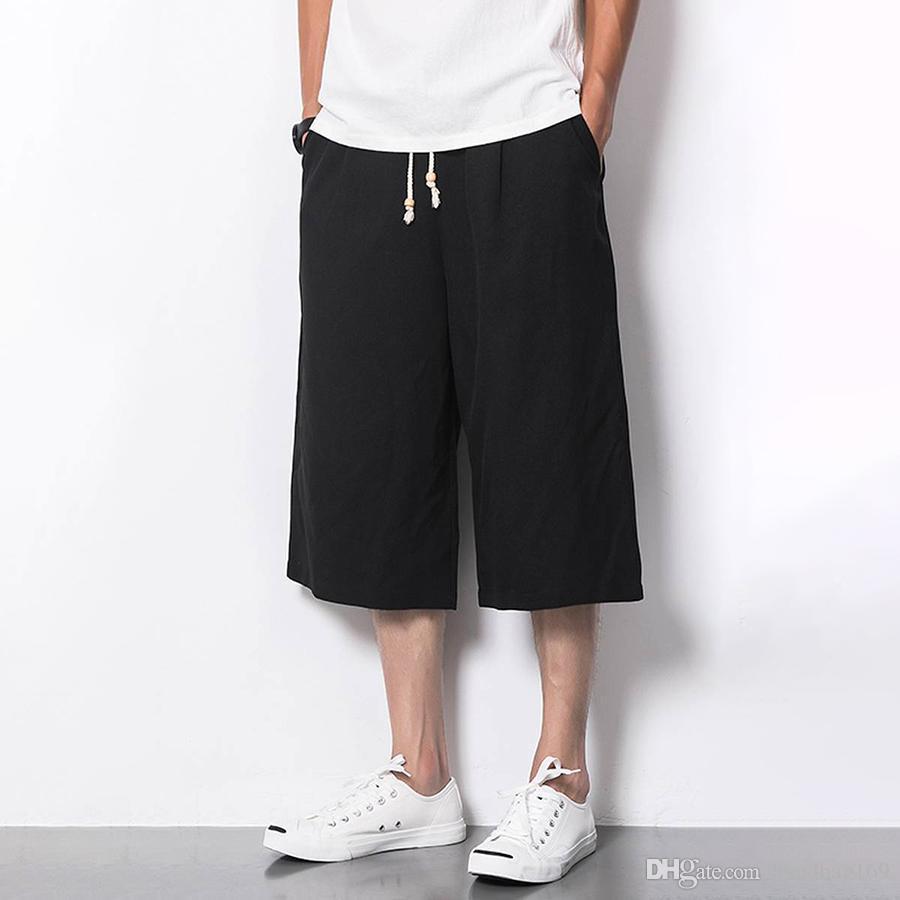 3e0a787d0c533 Compre Pantalones Cortos Casuales De Los Hombres De La Ropa De Verano De  Gran Tamaño Gasp Suelto Corto Masculino Bermuda Gasp Pantalones Cortos De  Los ...