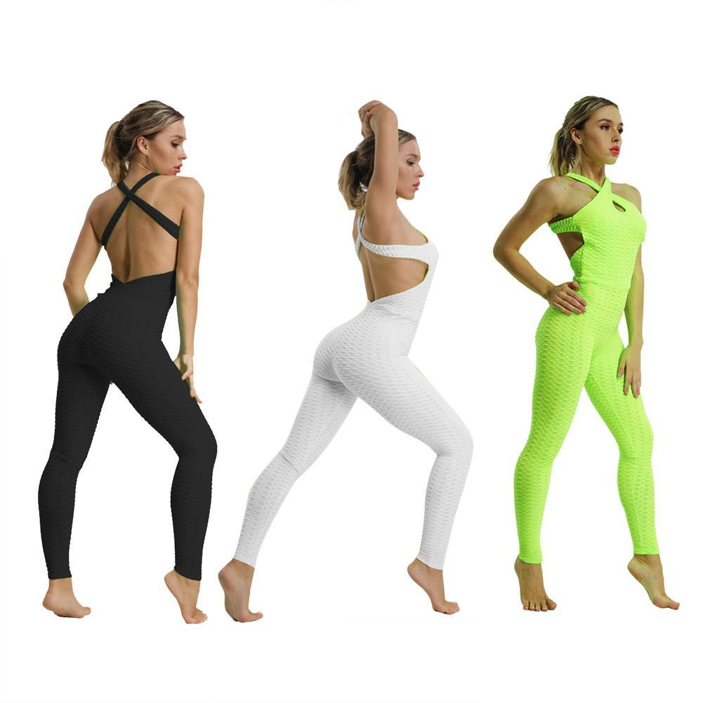 b178b18e5de97 Satın Al Spor Tulum Yoga Tulum Spor Spor Takım Elbise Kadın Eşofman Yoga  Seti Backless Gym Koşu Set Spor Giyim Kadın Giyim, $17.26   DHgate.Com'da