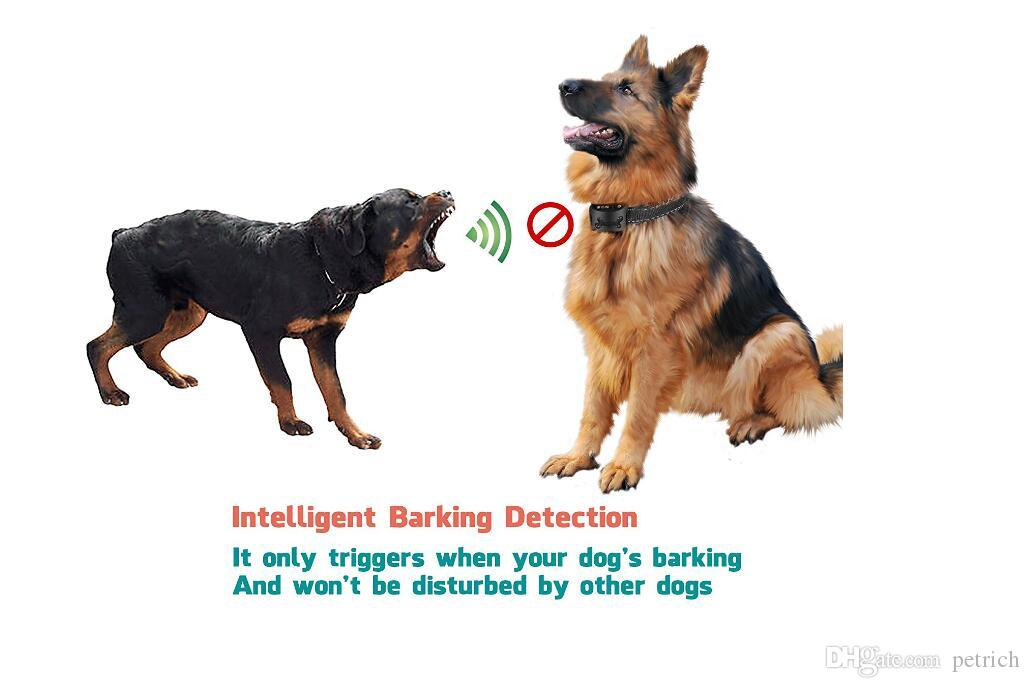 No Bark Collar with vibration and sound for rechargeable Bark Control For Small Medium And Large Dogs