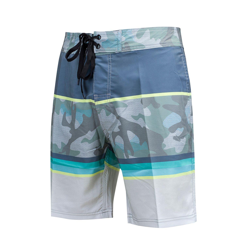 8506f9458 Compre Calções De Verão Surf Quick Dry Spandex Boardshorts Bermuda Masculino  Homens Moda Praia Nadar Calças Curtas Elásticas De Green_love_open, ...