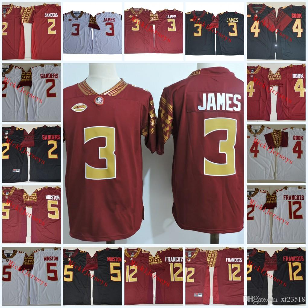 uk availability ec5cd 40456 Mens Florida State Seminoles Derwin James Football Jerseys Deion Sanders  Dalvin Cook Jameis Winston Deondre Francois Florida State Jersey