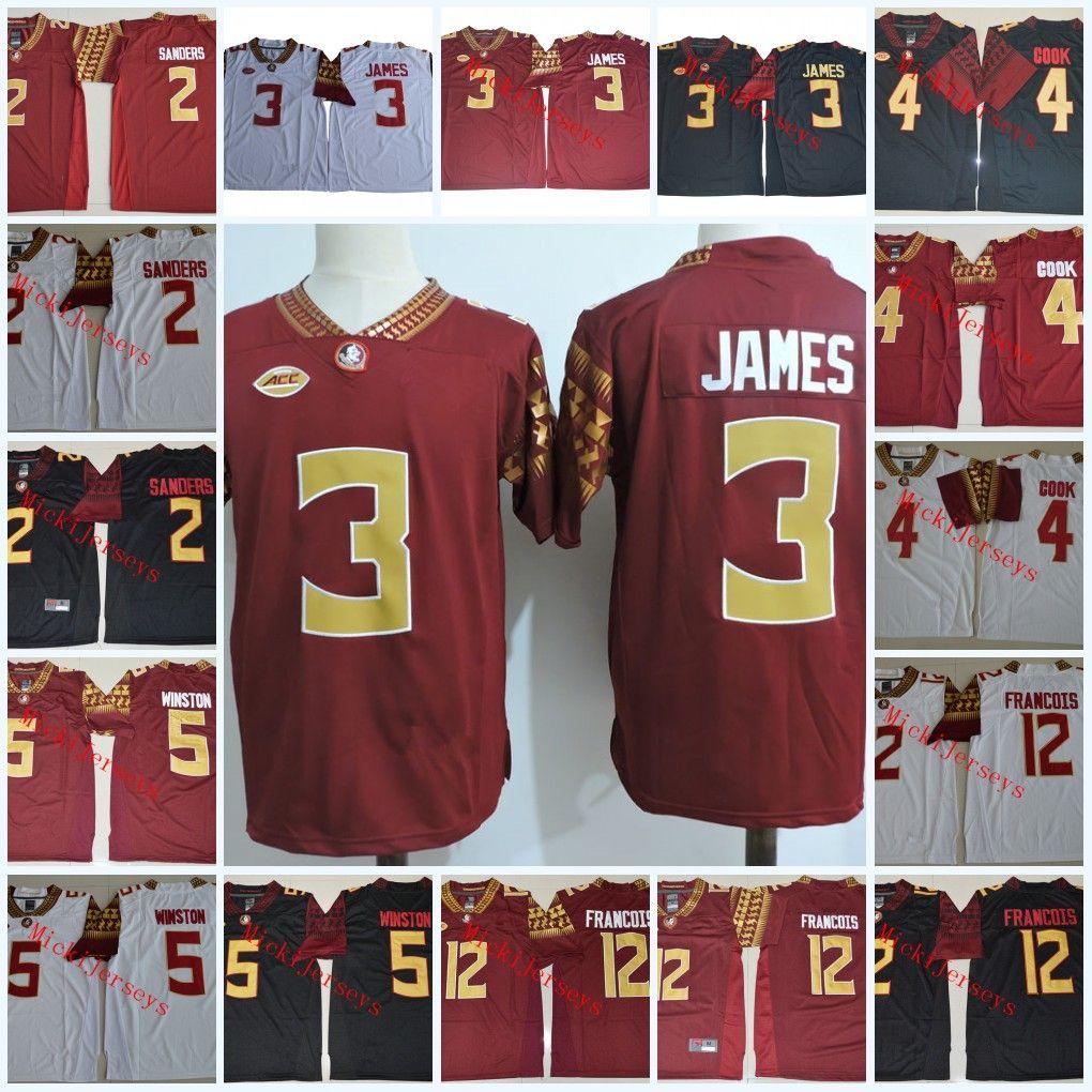 9f88aeaa2 2019 Mens NCAA FSU Derwin James College Football Jerseys Deion Sanders  Dalvin Cook Jameis Winston Deondre Francois Florida State Seminoles Jersey  From ...