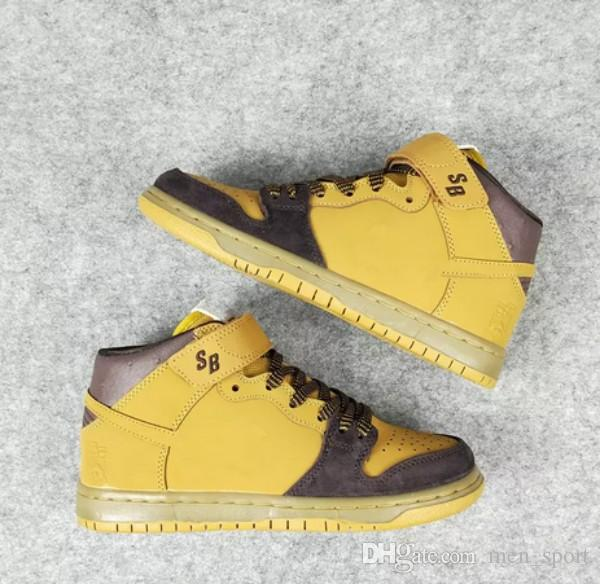 2018 Hot Sale DUNK MID PRO SB LEWIS MARNELL Wheat Women Mens ... 846034a6df