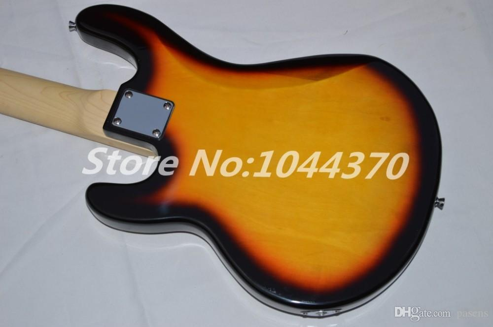 shop new music bass stingRay 5 strings Vintage Sunburst electric bass Guitar with 9v Battery amplifier circuit