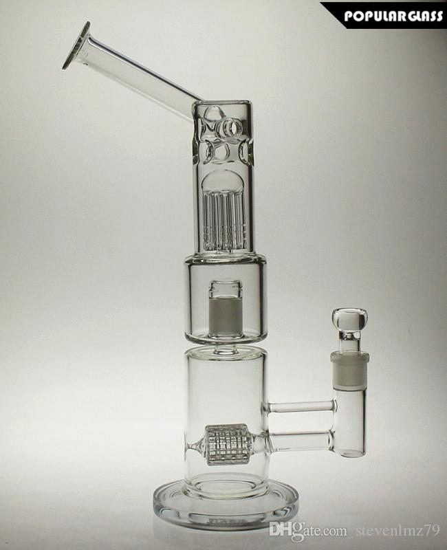 Glass vapexhale hydratube Wiith tree perc and water bong Glass with matrix perc Mouthpiece With Glass Bubbers joint size 18.8mm PG5157