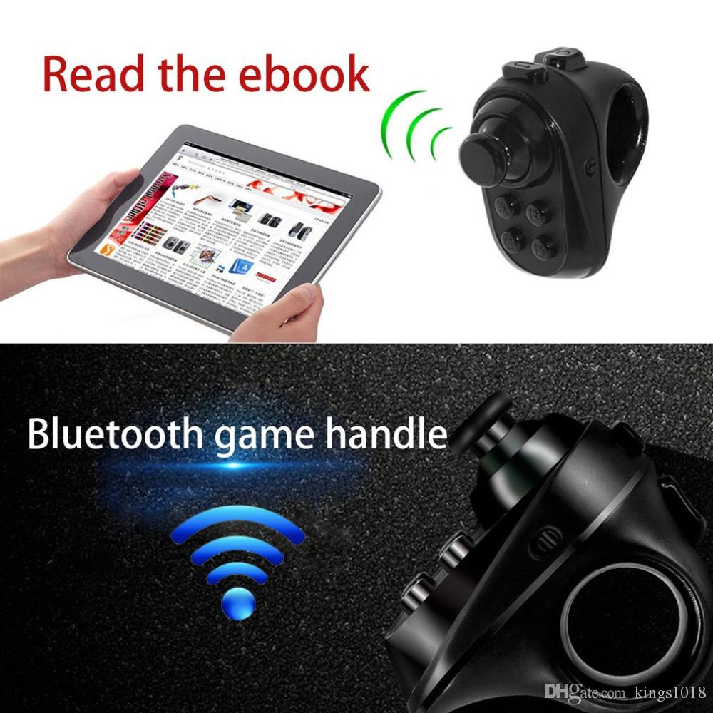 Wireless Bluetooth 4.0 Gamepad Mini Ring Rechargeable VR Remote Game Controller Joystick for Phone Tablet Selfie Music Control
