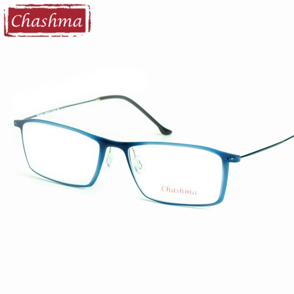 bfd42115568 2019 Chashma Brand Eye Glasses TR 90 Frame Titanium Temple Glasses Light  Eyeglasses Women And Men Frames For Prescription From Huazu