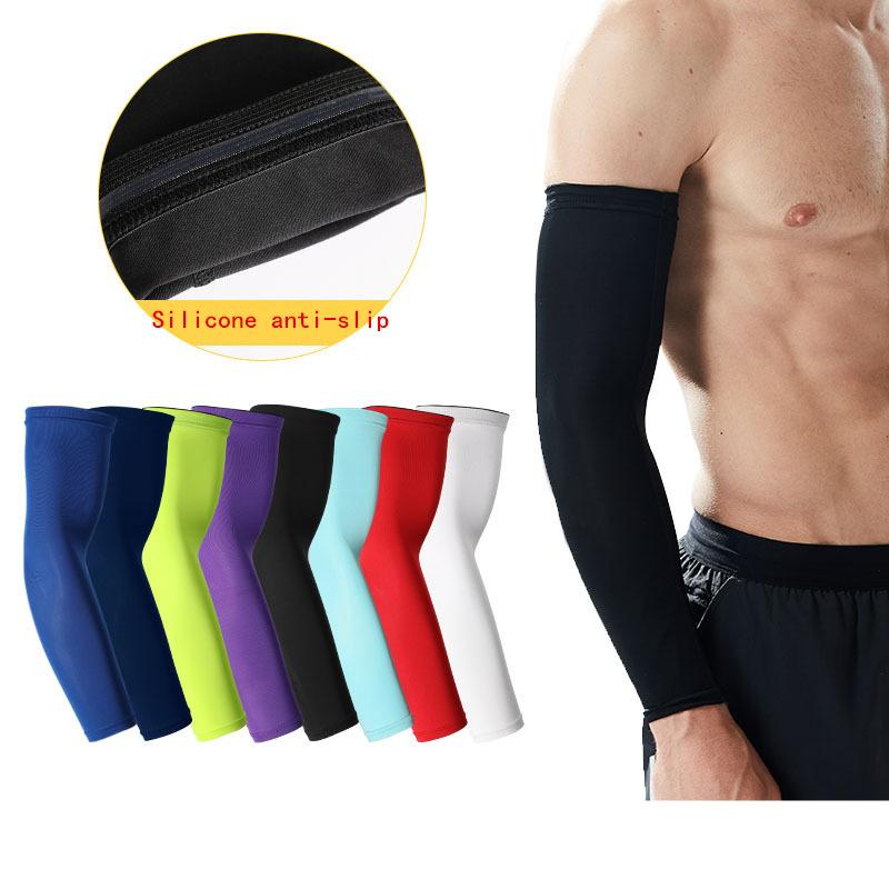 Apparel Accessories Nice Arm Warmers Running Arm Sleeves Basketball Elbow Pad Fitness Armguards Breathable Quick Dry Uv Protection Sports Cycling
