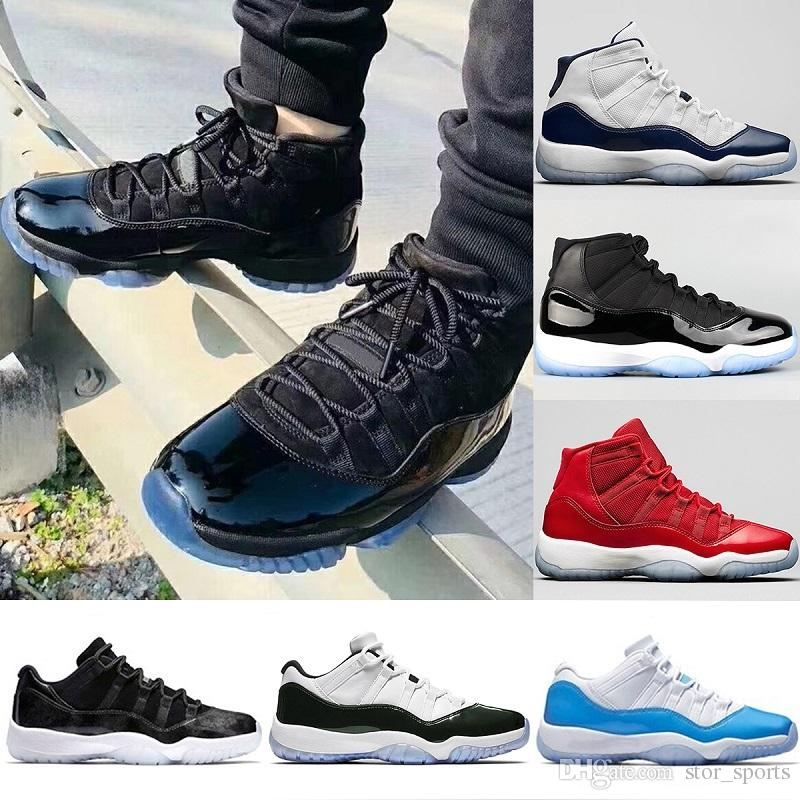 49efa3e4a5592c 2018 Designer Mens Prom Night 11 11s Iridescent Basketball Shoes UNC Gym  Red Space Jam 45 Concord Bred Sport Sneakers Size 5.5 13 Jordans Sneakers  Sneakers ...