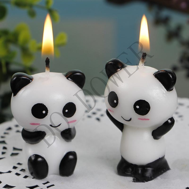 Pair Cute Panda Kid S Birthday Cake Candles Birthday Party