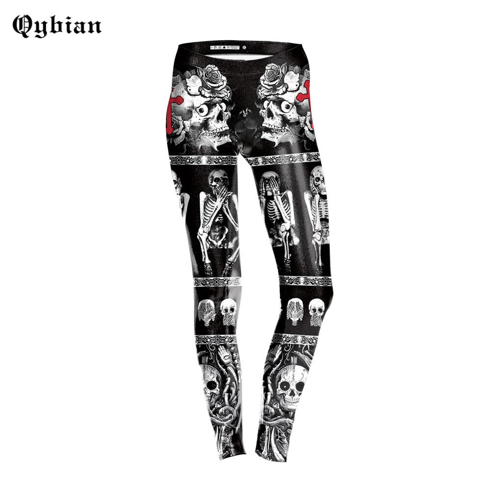 6027ac9307f6e 2019 3D Women Leggings Fashion Leggins Slim Legging Womens Pants Skull  Printing Ankle Length Pants High Waist Legging Femme From Fitzgerald10, ...