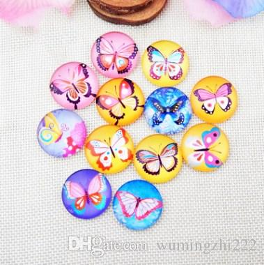 2018 HOT selling Crayon butterfly galss Snap button Charm Popper for Snap Jewelry picture pendant
