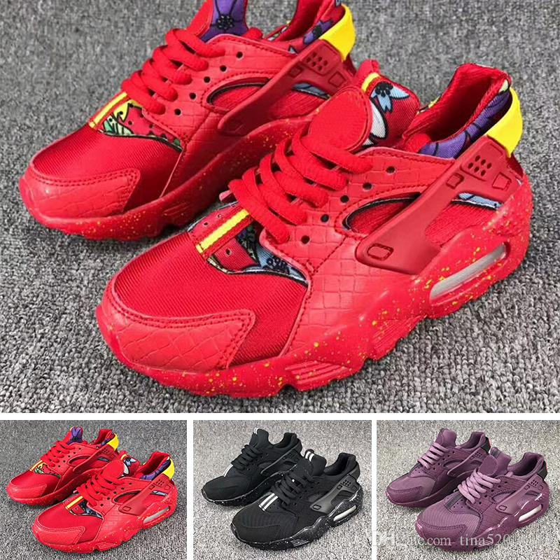 e7eb42a3d71b 2018 Air Huarache Infant Running Designer Shoes Kids Sports White Children  Huaraches Huraches Hurache Trainers Baby Sneakers Size Us 28 35 Running  Shoes ...