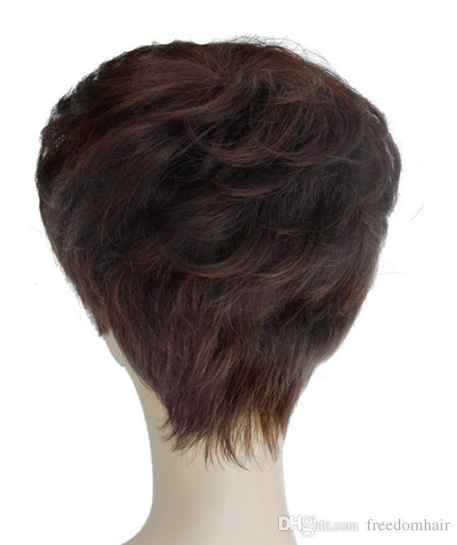 Brezilyalı İnsan Saç Kısa Kıvırcık Peruk En Daire El Yapımı Dantel Peruk Beyaz Veya Siyah Kadınlar Için Tam 100% Brezilyalı Virgin İnsan Saç peruk
